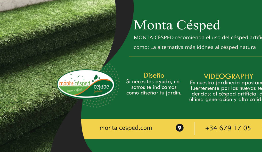 Césped Artificial para interiores Monta Césped