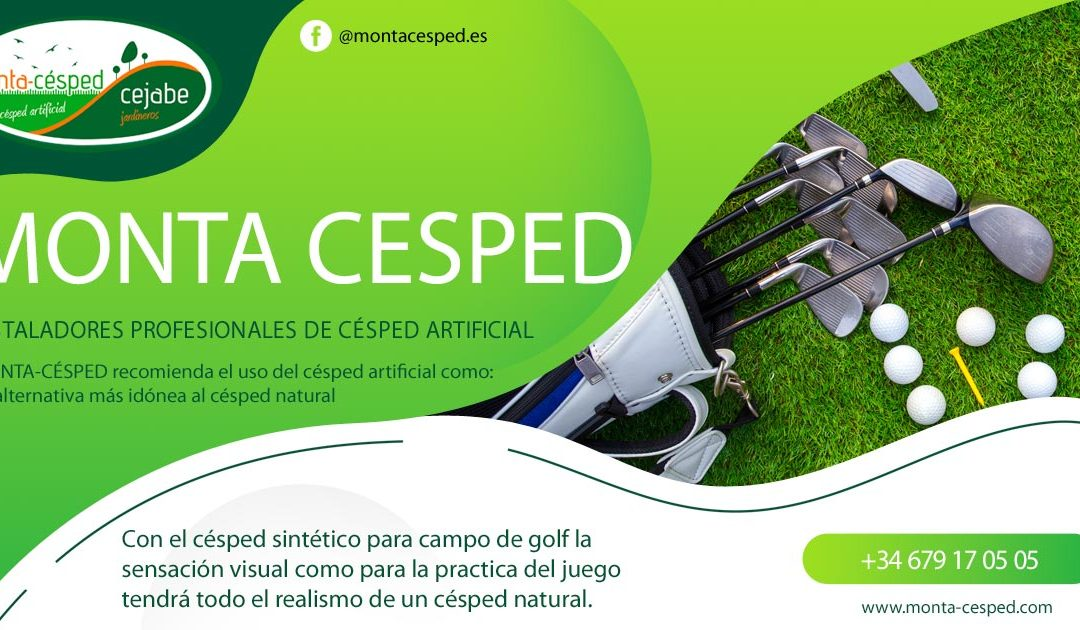 Césped Artificial en los campos de golf